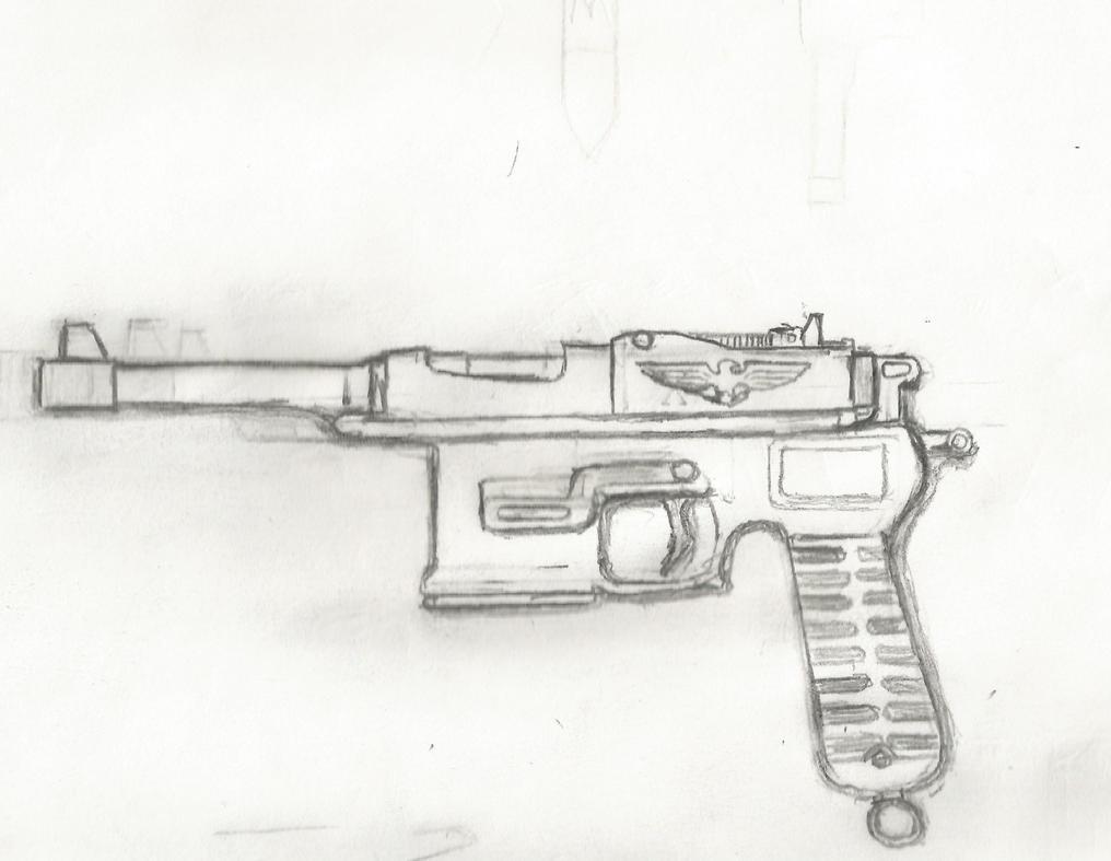 Mauser C96 steam punk pistol. by Ziphos123