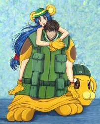 Chidori and Sousuke: Bonta-kun