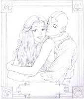 Aang and Katara Sketch by Yamigirl21