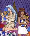Kisara, Teana and YGO Plushies by Yamigirl21