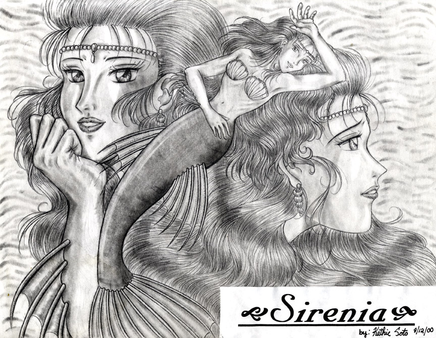 Sirenia in Pencil by Yamigirl21