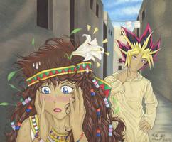 Transcending Memories: Yami and Teana Illustration