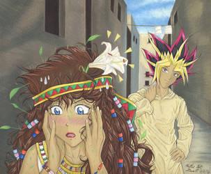 Transcending Memories: Yami and Teana Illustration by Yamigirl21