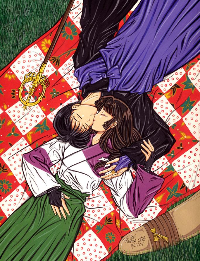 Sango and Miroku by Yamigirl21