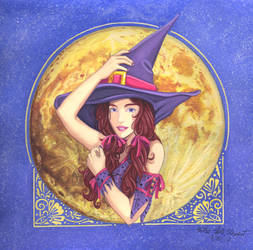 Witch Illustration 2017 by Yamigirl21