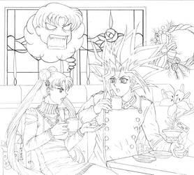 Usagi and Yami: Holiday Shopping Rant WIP by Yamigirl21