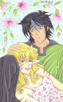 Yasuo and Portia in Yu-Gi-Oh Style for Danni-Stone by Yamigirl21
