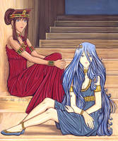 Teana and Kisara: 10,000+ hits by Yamigirl21