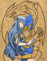 Kisara and Priest Seto by Yamigirl21