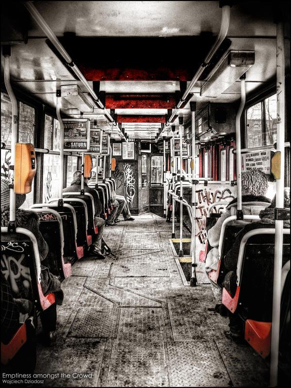 Emptiness amongst the crowd by WojciechDziadosz