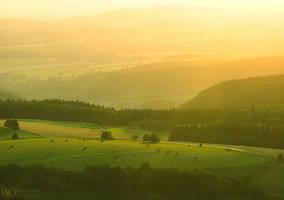 Valley in sunshine by WojciechDziadosz