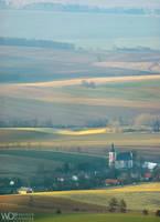 Town among the fields by WojciechDziadosz
