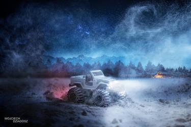 Road in the snow by WojciechDziadosz