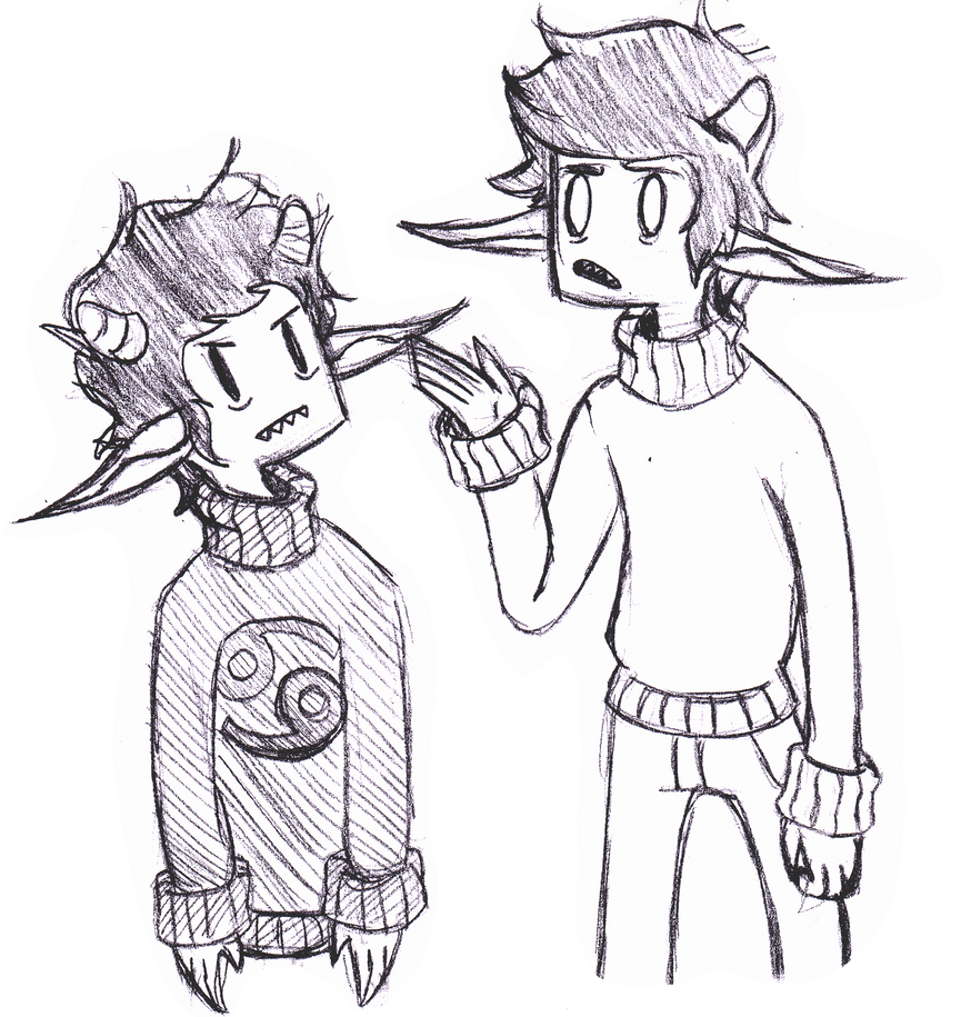 nubby sweater dudes by LeaTheInvader
