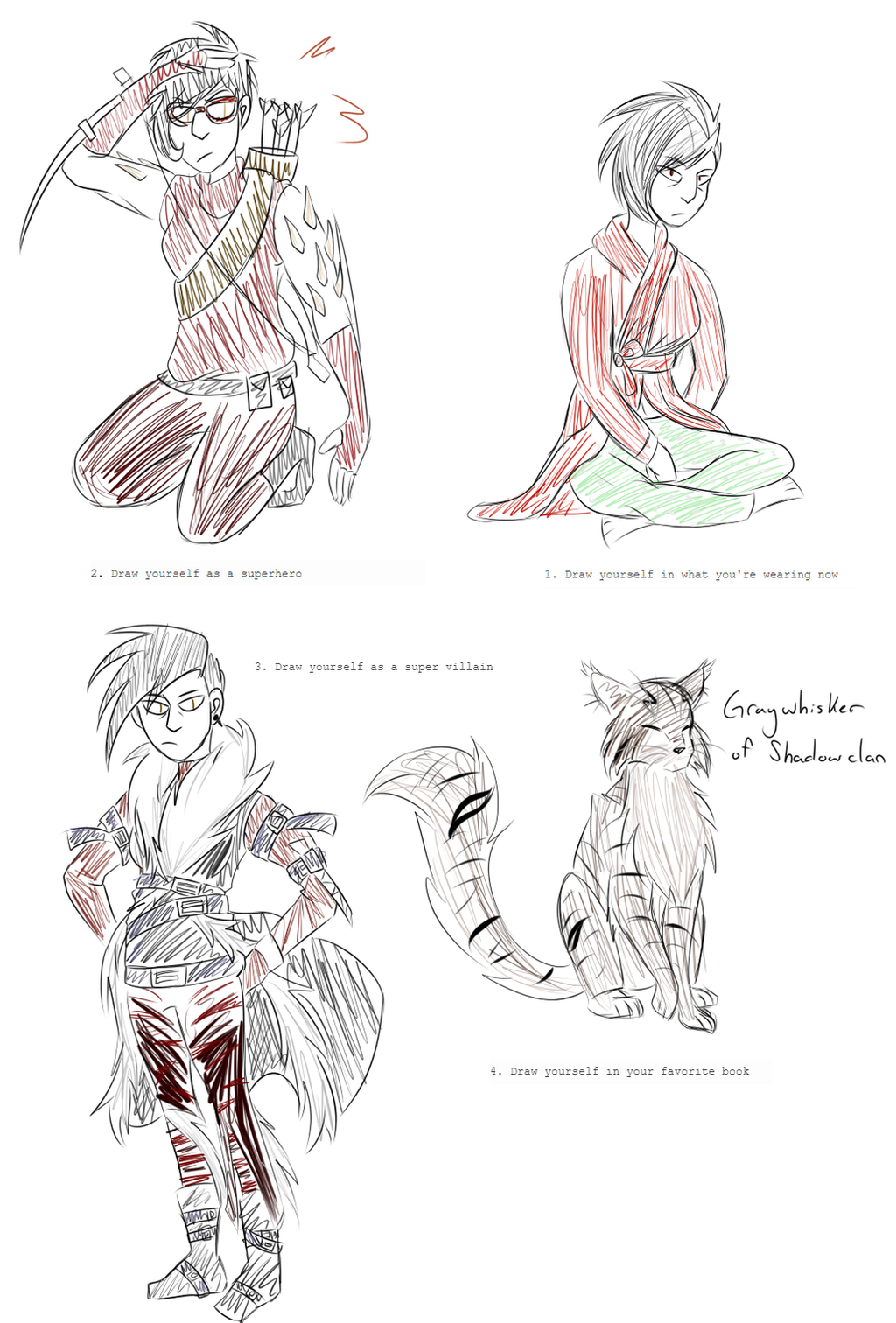 tumblr drawing prompts by alphaAvarice on DeviantArt