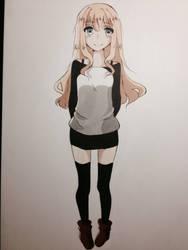 Manga girl by Mitzukyi