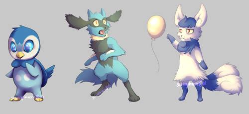 some pokemon doodles by ShiftingUniverse