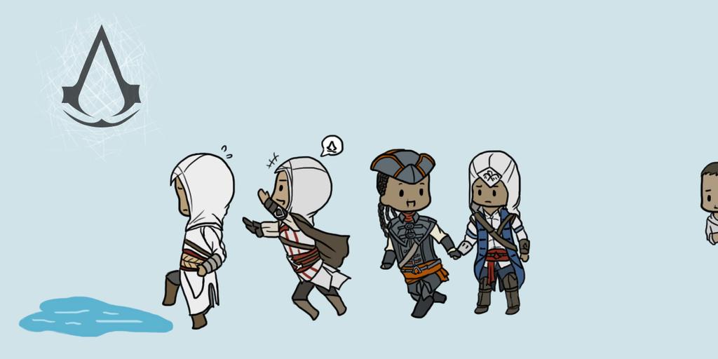 AC- Chibi Assassins by kakaleng1