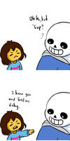 Undertale- Fighting for mom by kakaleng1