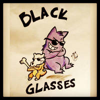 Cubone and Gengar were given Blackglasses to hold
