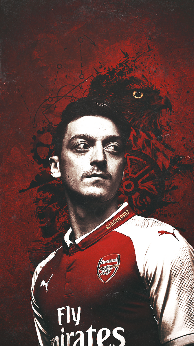 Mesut Ozil in the new home kit by Lagvilava on DeviantArt