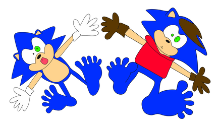 Sonic and his dad flattened by Jolly-villevillage