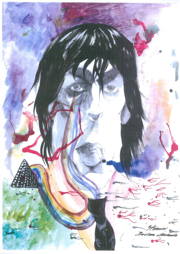 Caricature of Syd Barrett by IsidoraMichaelis