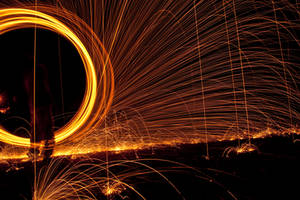 flying sparks by isischneider