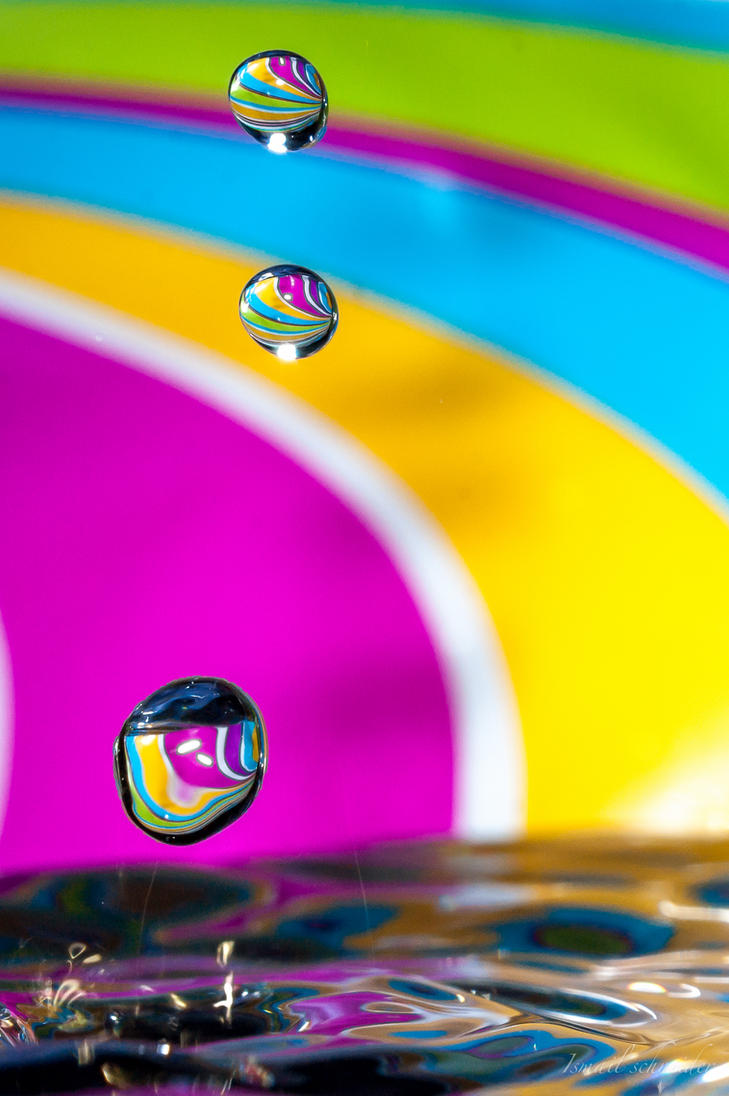 Rainbow Droplets by isischneider