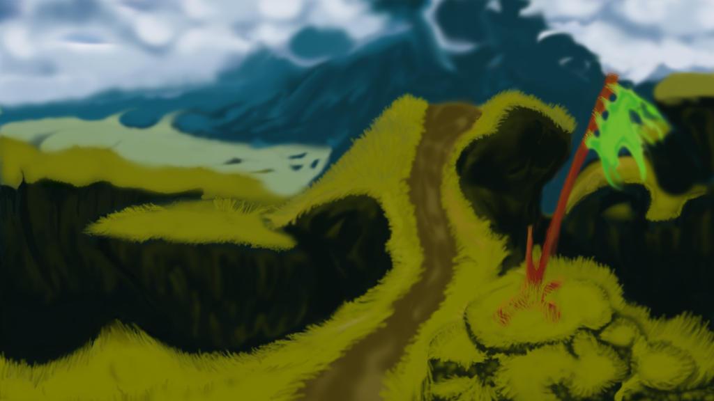 Mountain Portrait by MilleniumPuppet