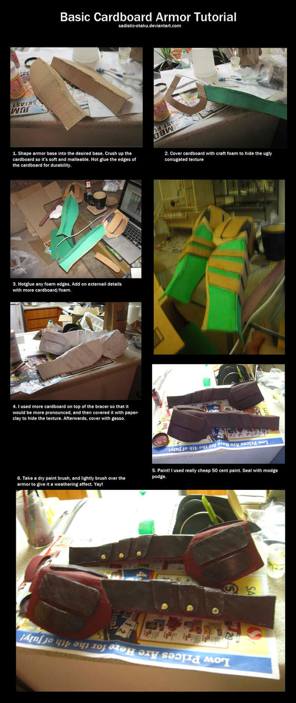Basic Cardboard Armor Tutorial by thegadgetfish