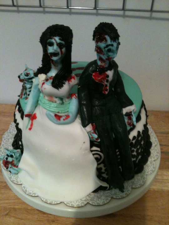 zombie wedding cake by TheForest
