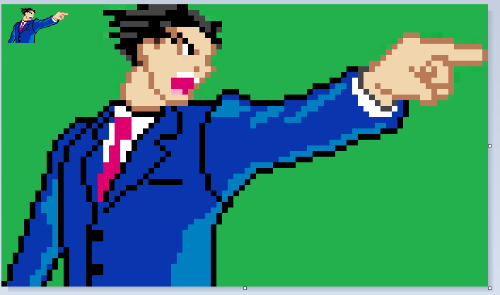 Phoenix Wright Objection Reduced Sprite By Thatboringband On Deviantart