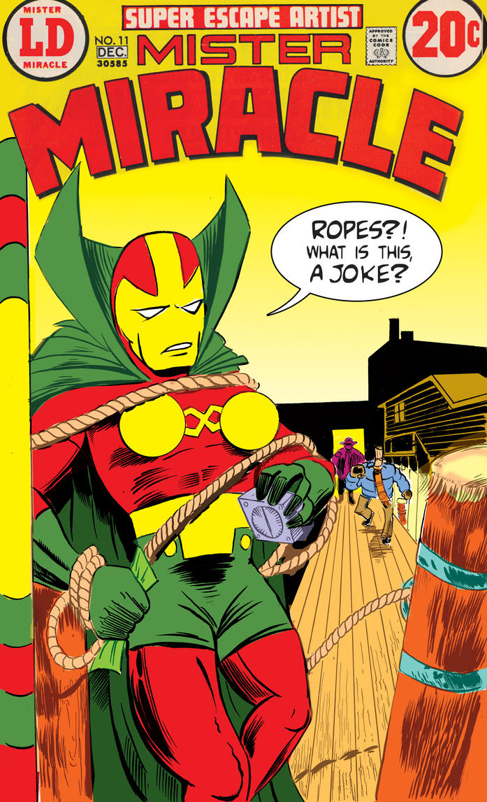 Mister Miracle by strawmancomics