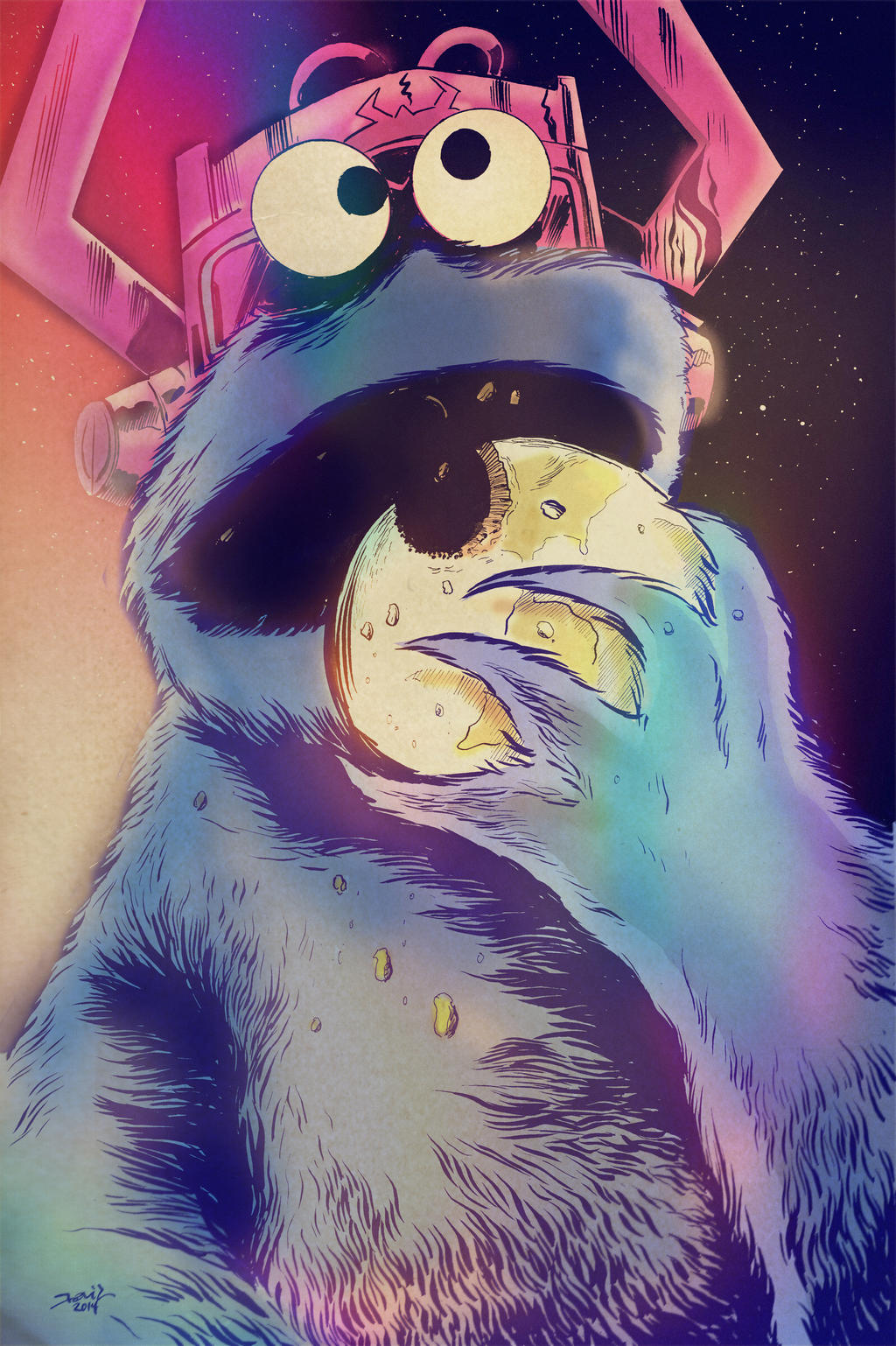 Cookie Monster, Devourer of Worlds by strawmancomics
