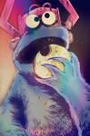 Cookie Monster, Devourer of Worlds by strawmancomics