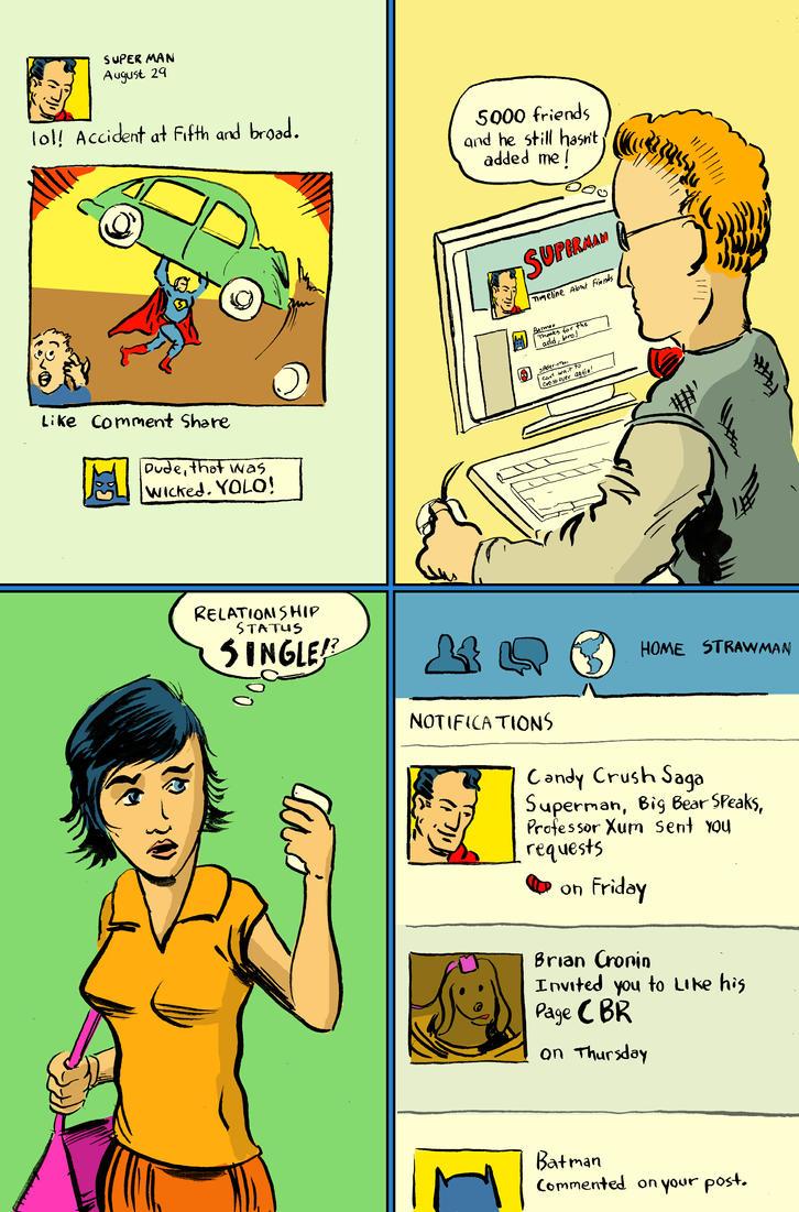 Facebook Super Jerk by strawmancomics