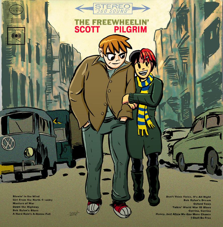 The Freewheelin' Scott Pilgrim by strawmancomics