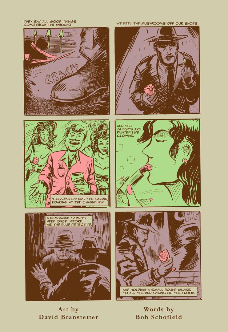 The Blue Detective - Alt Comix Challenge by strawmancomics
