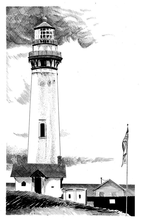Lighthouse by strawmancomics