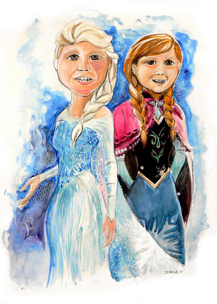 Frozen Girls by strawmancomics
