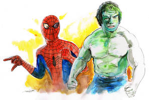Tv's Spider-Man and the Incredible Hulk!