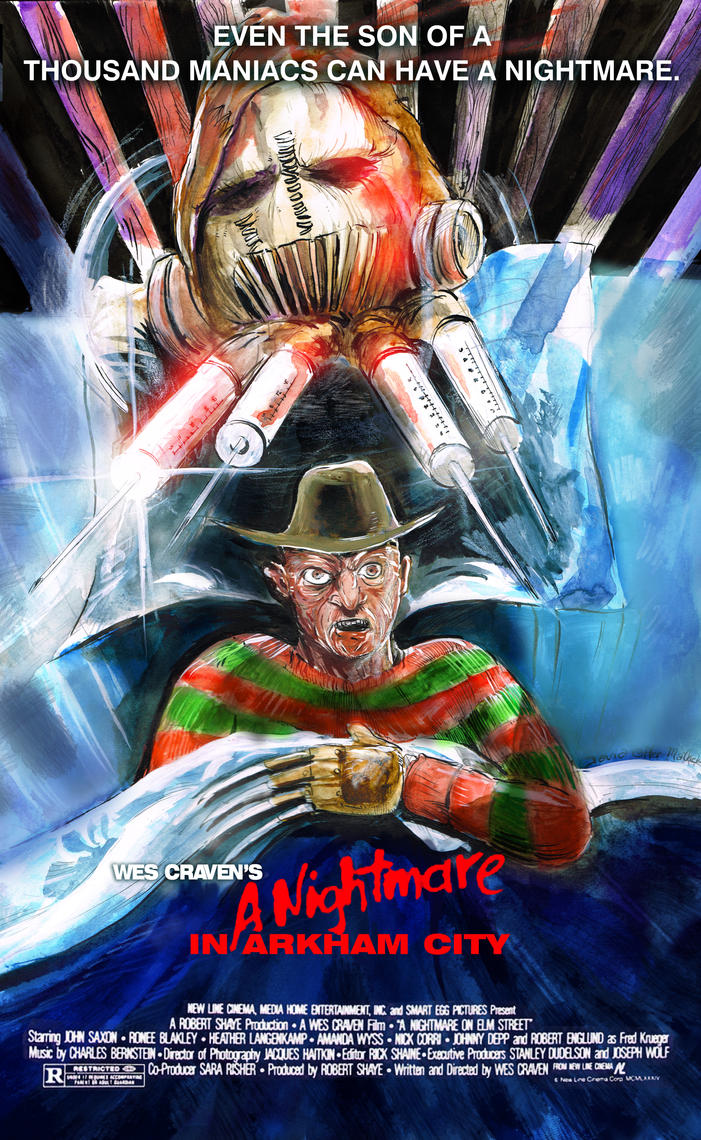 Wes Craven's Nightmare In Arkham City by strawmancomics