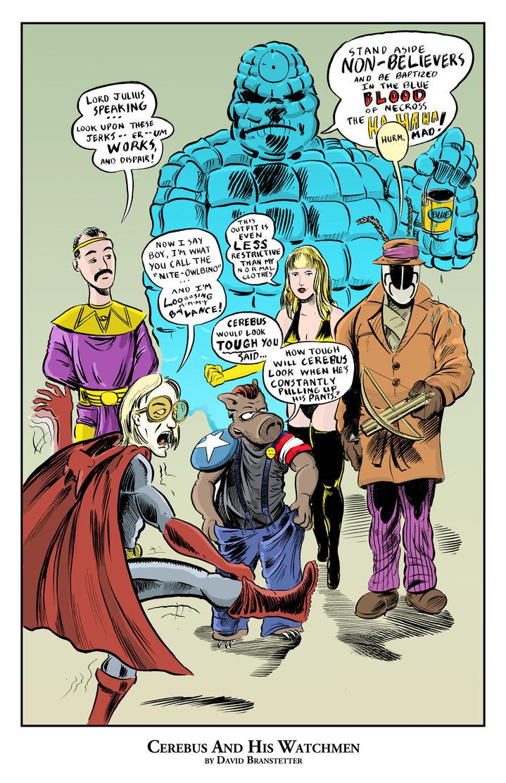 Cerebus and His Watchmen by strawmancomics