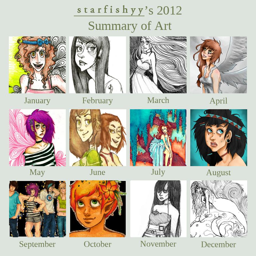 2012 Art Summary by starfishyy