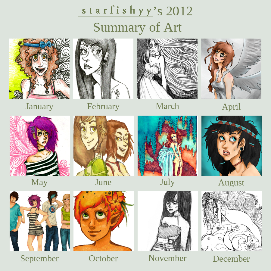 2012 Art Summary by starfishyy