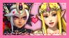 Zelda x Cia stamp by chamomilepetals