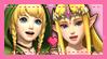 Linkle x Zelda Stamp by chamomilepetals