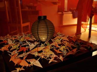 Origami Senbazuru by tsubameyuri