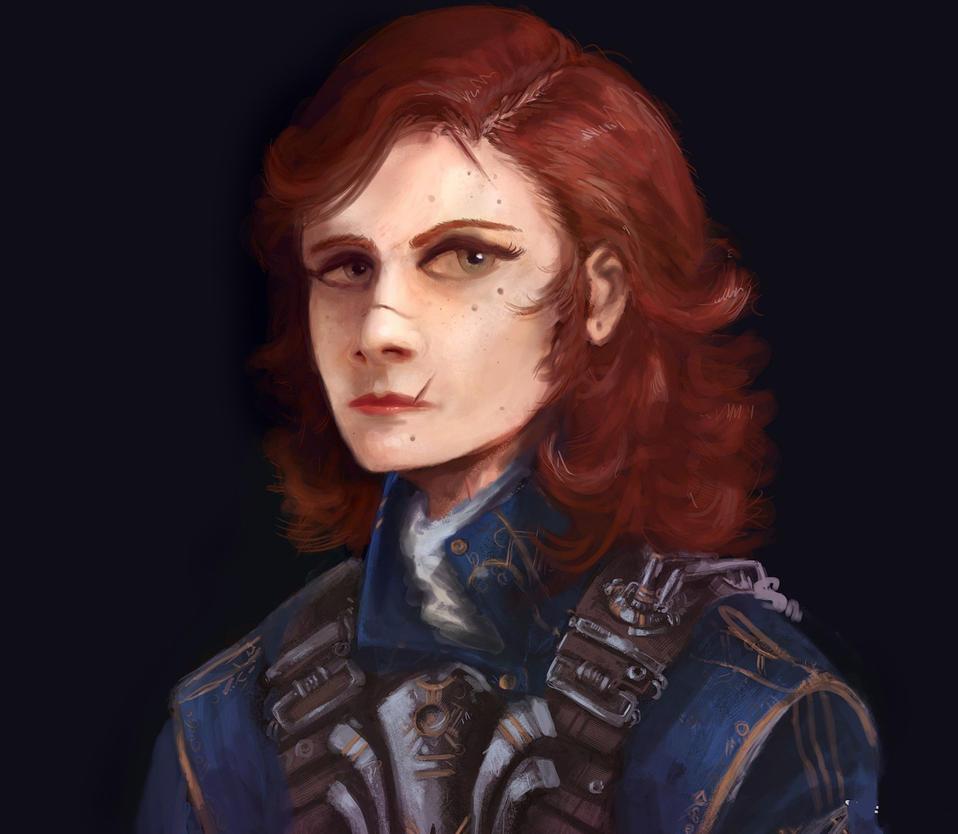 Face sketch by BoxofLizards